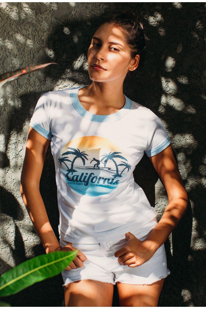 T-Shirt Bord Côte - Free