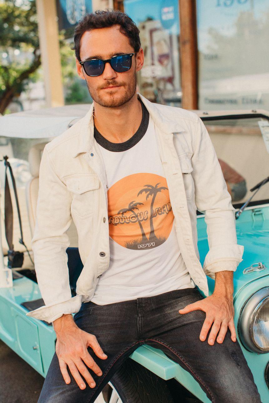 T-Shirt Bord Côte - Palmiers